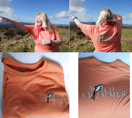 Wild Swimmer T Shirt £18 in Antique Orange